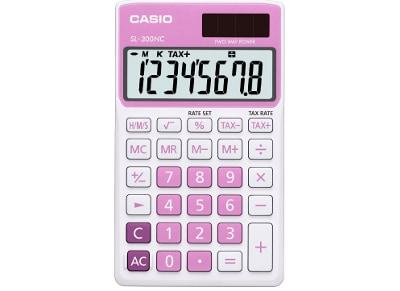Αριθμομηχανή Casio Basic SL-300NC 8 Ψηφίων Ροζ