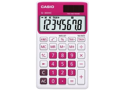 Αριθμομηχανή Casio Basic SL-300NC 8 Ψηφίων Μοβ