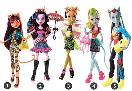 Monster High Πείραμα Η Μετάλλαξη (CBY92) (5 Σχέδια)