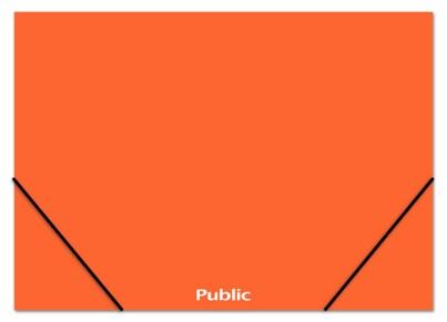 Κουτί με Λάστιχο Public Πορτοκαλί