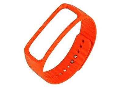 Samsung Galaxy Gear Fit Ανταλλακτικό Λουράκι Πορτοκαλί - Urethane Strap ET-SR350 Medium