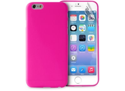 Θήκη iPhone 6/6S Plus & Μεμβράνη οθόνης - Puro UltraSlim 0.3 Cover IPC65503PNK Ροζ
