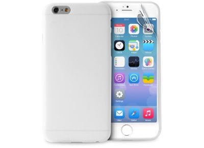 Θήκη iPhone 6/6S Plus & Μεμβράνη οθόνης - Puro UltraSlim 0.3 Cover IPC65503TR Διαφανές