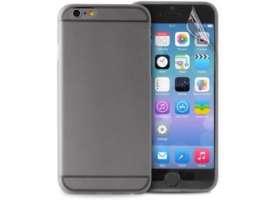 Θήκη iPhone 6/6S & Μεμβράνη οθόνης - Puro UltraSlim 0.3 Cover IPC64703BLK Μαύρο