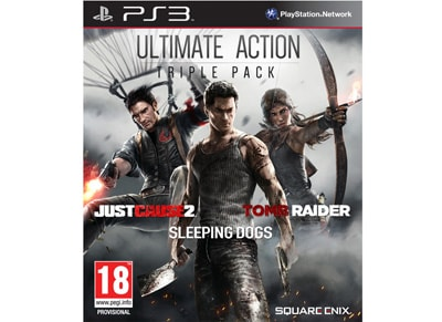 Ultimate Action Pack (Just Cause 2 & Sleeping Dogs & Tomb Raider) - PS3 Game