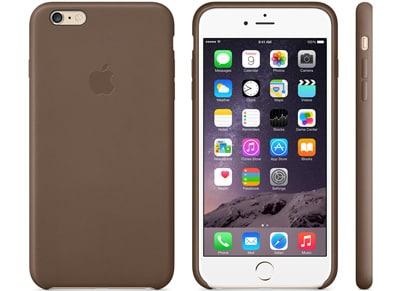 Θήκη iPhone 6/6S Plus - Apple Leather Case MGQR2ZM/A Καφέ