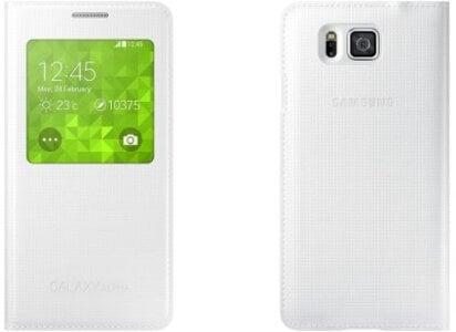 Θήκη Samsung Galaxy Alpha - Samsung S-View Cover EF-CG850BWEGWW - Λευκό τηλεφωνία   tablets   αξεσουάρ κινητών   θήκες