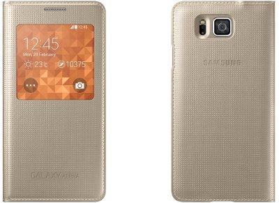 Θήκη Samsung Galaxy Alpha - Samsung S-View Cover EF-CG850BFEGWW - Χρυσό τηλεφωνία   tablets   αξεσουάρ κινητών   θήκες