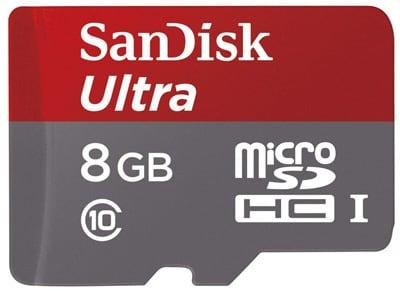 Κάρτα μνήμης microSDHC 8GB Class 10 - SanDisk Ultra SDSDQUAN-008G-G4A