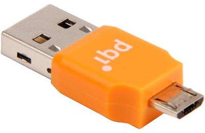 Αντάπτορας PQI USB σε Micro USB Connect 203 0013R014J Πορτοκαλί