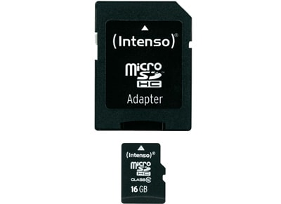 Κάρτα μνήμης microSDHC 16GB Class 10 & SD Adapter - Intenso 3413470
