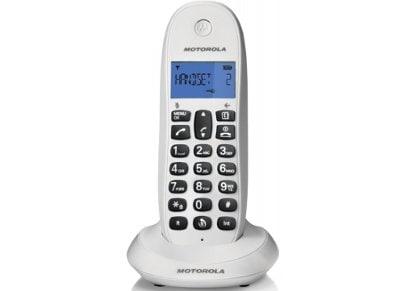 Motorola C1001LΒ Ασύρματο Τηλέφωνο Λευκό