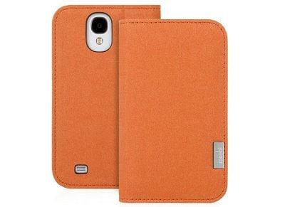 Θήκη Samsung Galaxy S4 - Moshi Overture Wallet Πορτοκαλί 99MO067801 τηλεφωνία   tablets   αξεσουάρ κινητών   θήκες
