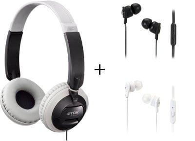 Ακουστικά Κεφαλής TDK ST100 & TDK IP150 - Μαύρο