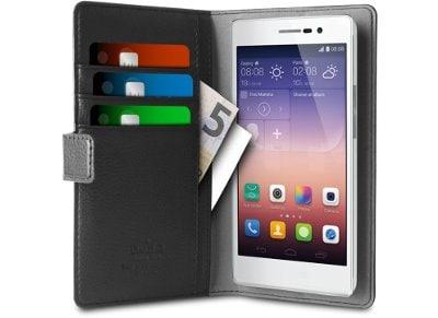 """Θήκη Universal 4.5"""" - Puro Bi-Color Wallet Μαύρο/Γκρι"""