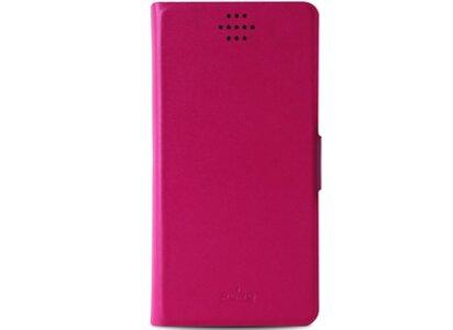 """Θήκη Universal 4"""" - Puro Bi-Color Wallet Ροζ/Κόκκινο"""