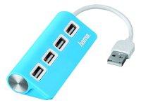 USB Hub 2.0 Hama 12179 4 ports Μπλε