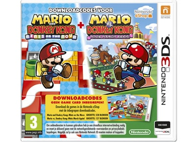 Mario vs Donkey Kong: March Again & Minis on the Move (Code in a Box) - 3DS/2DS Game