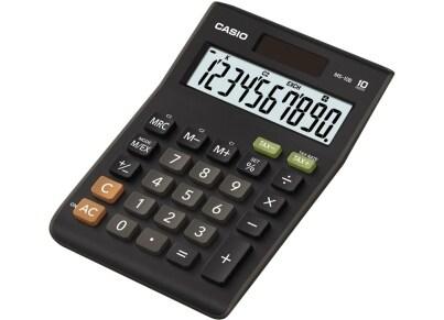 Αριθμομηχανή Γραφείου Just  Desk Casio 10-MS-10B Μαύρο