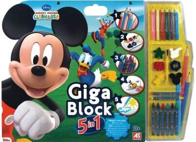 Σετ Ζωγραφικής Giga Block 5σε1 Mickey & Φίλοι AS 1023-62686