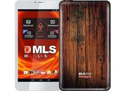 "MLS iQTab Designs 8 WiFi 10 - Tablet 8"" 8GB Wood Texture Deep"