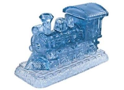 Crystal Puzzle 3D Ατμομηχανή (Μπλε)