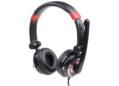 Ακουστικά Κεφαλής Gembird MHS-5.1-001 USB Headset Μαύρο