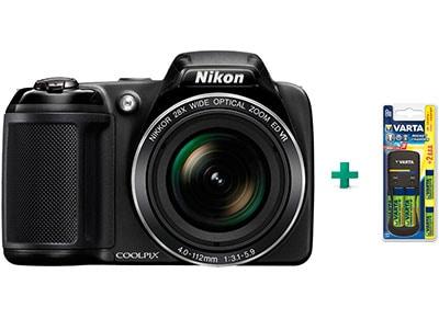 Compact Nikon Coolpix L340 - Μαύρο & Μπαταρίες επαναφορτιζόμενες