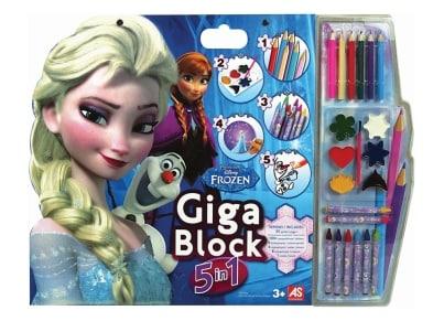 Σετ Ζωγραφικής Giga Block 5 Σε 1 Frozen 1023-62691