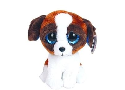 Χνουδωτό Σκύλος TY Beanie Boos Καφέ-Άσπρο 15cm (1607-36125)