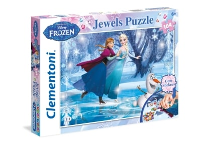Puzzle Clementoni Disney: Jewels Frozen 104 Κομμάτια (1211-20601)