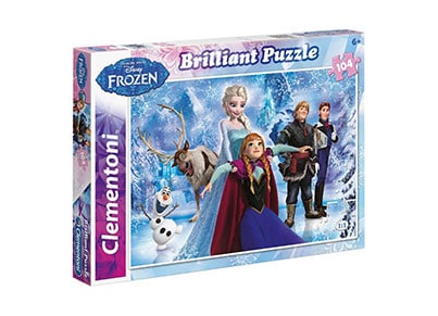Παζλ Brilliant Frozen - Super Color Disney Clementoni - 104 Κομμάτια