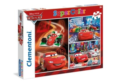 Puzzle Clementoni Super Color Disney: Cars 3x48 Κομμάτια (1200-25197)