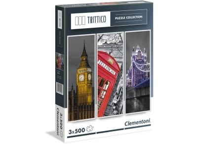 Puzzle Clementoni Trittico: Λονδίνο 3x500 κομμάτια (1260-39306)