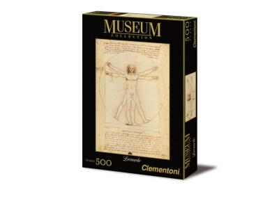 Παζλ Leonardo Uomo Vitruviano - Museum Collection Clementoni - 500 Κομμάτια