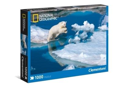 Puzzle Clementoni National Geographic: Πολική Αρκούδα 1000 Κομμάτια (1220-39304)
