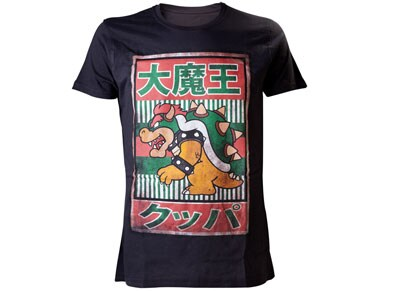 T-Shirt Nintendo Bowser Kanji Μαύρο - M