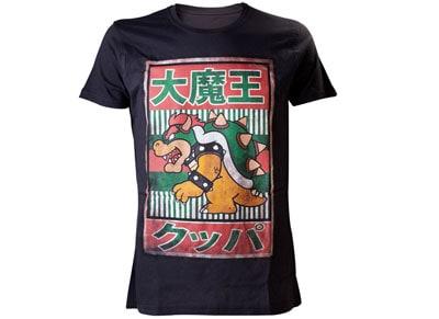 T-Shirt Nintendo Bowser Kanji Μαύρο - L