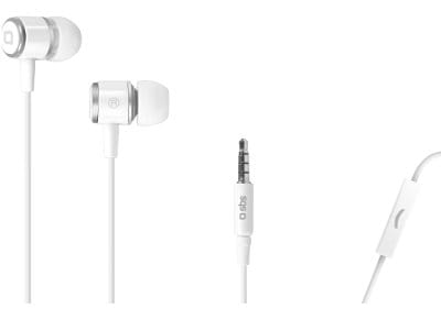 Handsfree Ακουστικά SBS Studio Mix 40 In Ear Stereo Earset Λευκό (TEMETALINEARW)