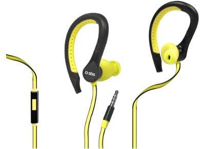 Ακουστικά Αδιάβροχα SBS Runway Flat Sport Kίτρινο