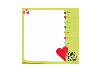 Mouse Pad - Σημειωματάριο Hearts 19.5x19.5cm (SMI0069)