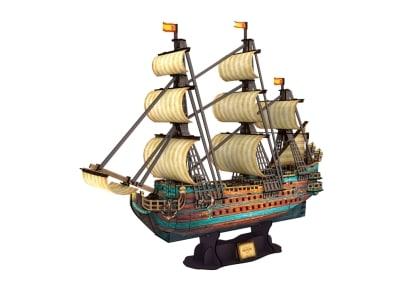 Puzzle 3D CubicFun The Spanish Armada-San Felipe (CF4017)