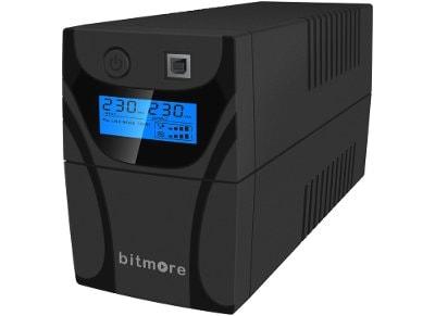 Bitmore Line UPS LCD 850VA Σύστημα UPS Ανθρακί