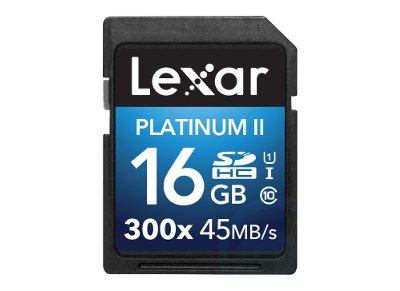 Κάρτα μνήμης SDHC 16GB Class 10 300x Lexar Platinum II LSD16GBBBEU300