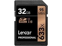 Κάρτα μνήμης UHS-I SDHC 32GB Class 10 633x Lexar Professional LSD32GCB1EU633