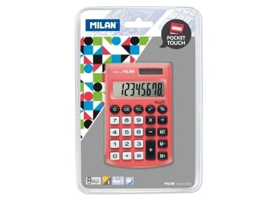 Αριθμομηχανή Milan Pocket Touch Κόκκινο