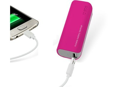 Powerbank USB SBS Portable Battery Backup 2000 mAh Ροζ