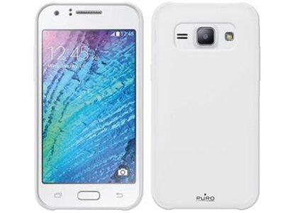 Θήκη Samsung Galaxy J1 - Puro Silicon Case Λευκό Ημιδιαφανές (SMGGALAXYJ1STR)