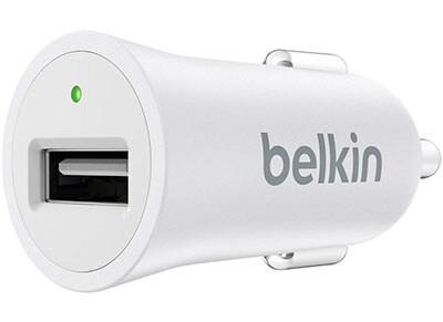 Belkin USB Φορτιστής Αυτοκινήτου 2.4A Λευκό