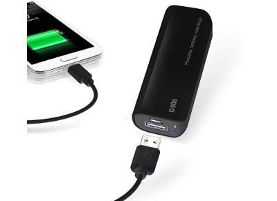 Powerbank USB SBS Portable Battery Backup 2200 mAh Μαύρο